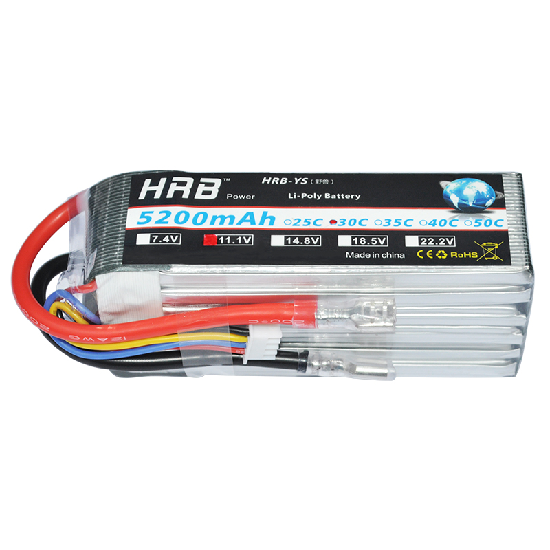 HRB Hubsan H109S RC Lipo 3S Battery 5200mAh 11.1V 30C MAX 60C  3S2P For 4-xis RC Bateria Quadcopter Drone Helicopter Airplane 1s 2s 3s 4s 5s 6s 7s 8s lipo battery balance connector for rc model battery esc