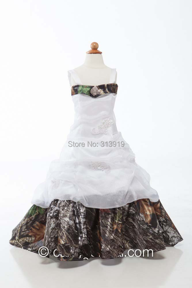 girls camouflage pageant gowns flower girl dresses camo dress camo print night dress