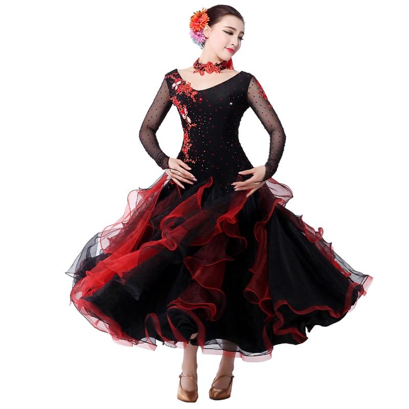 US $102.6 5% OFF|Adult Ballroom Dance Dress Vestiti Standard Ballroom Dress  Women\'s Plus Size Ballroom Dress Stage Costumes Waltz Dresses #281-in ...