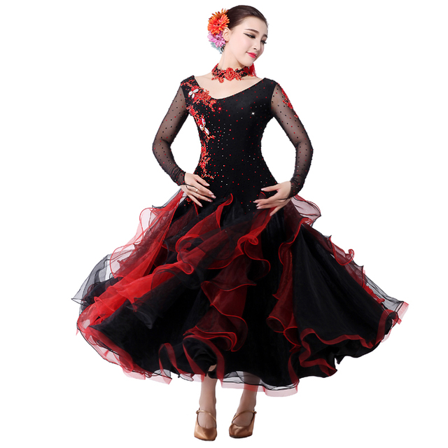 Plus size ballroom dance dresses