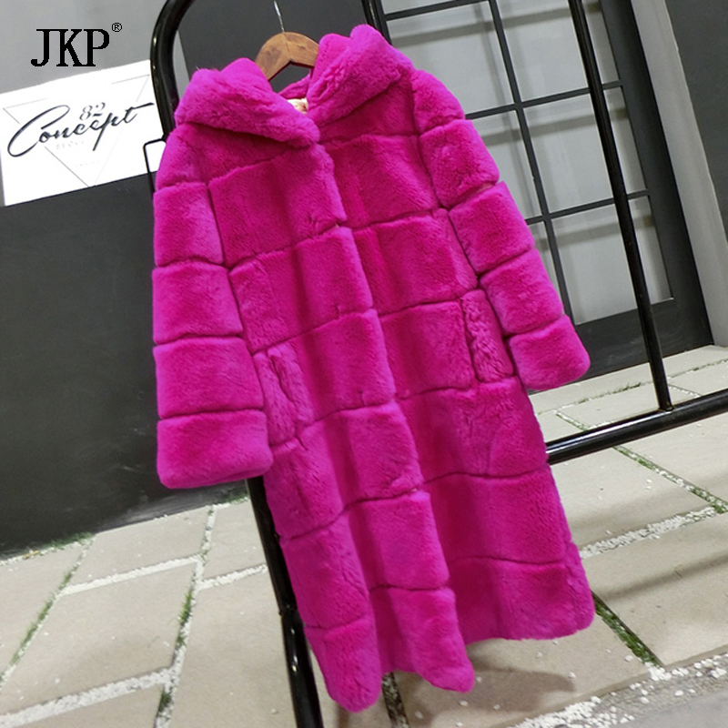 Winter Children Fur Coats Real Rex Rabbit Fur Jacket Boys Girls Warm Hooded Fur Outerwear Kids Thicken Down Jacket new winter girls boys hooded cotton jacket kids thick warm coat rex rabbit hair super large raccoon fur collar jacket 17n1120