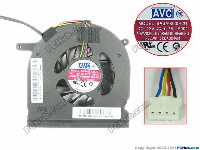 AVC BASA0920R2U P001 Server Laptop Fan DC 12V 0.7A 4-wire avc db12038b12h p012 dc 12v 4 5a 120x120x38mm server square fan