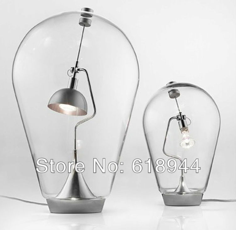 Italian Clear Glass Driveway: Italy Classic Glass Bottles Table Lamp, Clear Glass