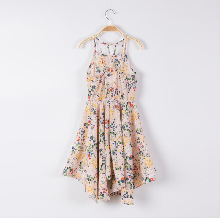 17025f3d2 Teenager Printed Floral Dress Big Girl Fashion Sleeveless Singlet Dress  Summer Junior Pink Beach dress baby clothes-in Dresses from Mother & Kids  on ...
