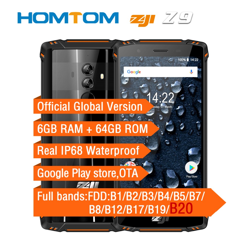 HOMTOM ZOJI Z9 IP68 Waterproof Smartphone Octa Core 5.7 inch 6GB RAM 64GB ROM 5500mAh B20 4G FDD LTE Full Bands Mobile Phone(China)