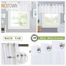 NICETOWN Linen Textured Translucent Semi-Voile Sheer Drape Valance for Small Window &Home Kitchen&Livingroom,1 Panel(China)