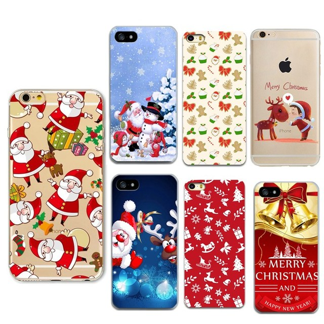 phone case for iphone 7 plus soft silicone christmas santa claus cover case for apple iphone