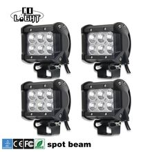 CO LIGHT 4 Inch Day Time Running Light CREE Chip Spot Beam 6000K 2400lm 12V Work Light for UAZ Lada Niva Jeep SUV ATV UTE Motor
