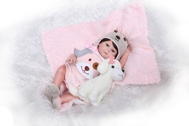 Full Silicone Real Girl Body Reborn Baby Doll Realistic Newborn Baby Toys 2