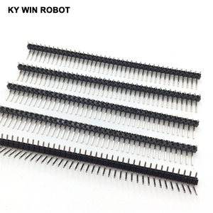 Image 5 - 200pcs 40 Pin 1x40 Single Row Male 2.54mm Breakable Pin Header Right Angle Connector Strip bending