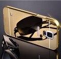 Роскошный алюминиевый металлический каркас зеркало акриловая задняя крышка чехол для Samsung Galaxy S5 G900F S5 нео SM-G903F чехол делюкс принципиально оболочки