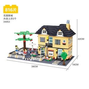Image 4 - 816 個 wange 34053 超大型ヴィラビルディングブロック eductional おもちゃ構造互換レンガとブロックハウスギフト