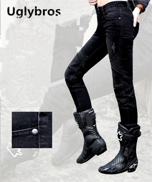 Us57 In 27 Hosen Motorradschutzhose Größe25 Mode Jeans Uglybros mode Moto Schwarz 26 Racing 15Off 8 Frauen Herbed 0nwmvN8