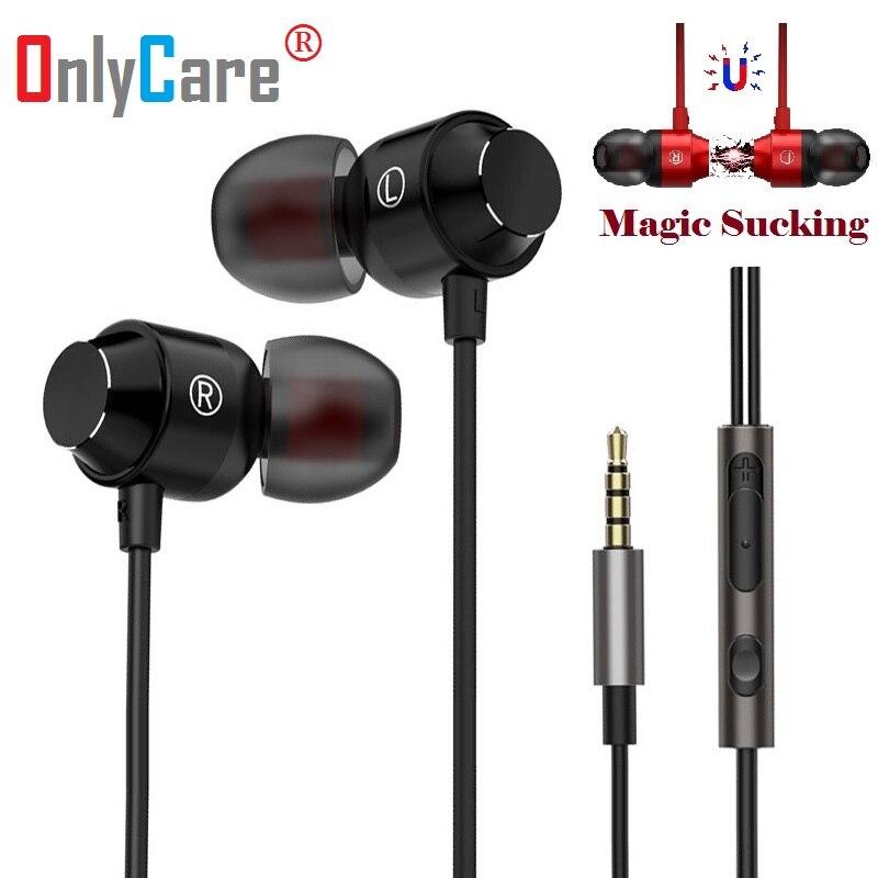 Magnetic Metal Heavy Bass Earpiece For Asus ZenFone Max ZC550KL Headset Earphones Earbuds Headphone Fone De Ouvido