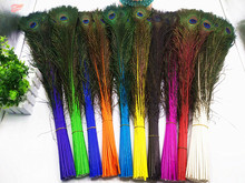 ФОТО good! free shipping wholesale 50 pcs / lot high-quality naturally peacock feathers, 70-80cm / 28-32