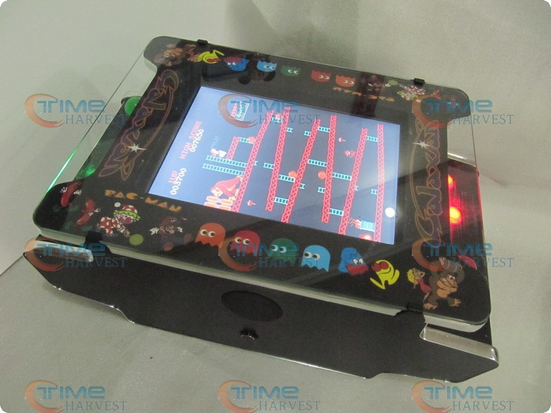 15 inch LCD Mini Table Cocktail Arcade Machine With Classical Games 412 In 1PCB/With long shaft joystick and Illuminated button sanwa button and joystick use in video game console with multi games 520 in 1