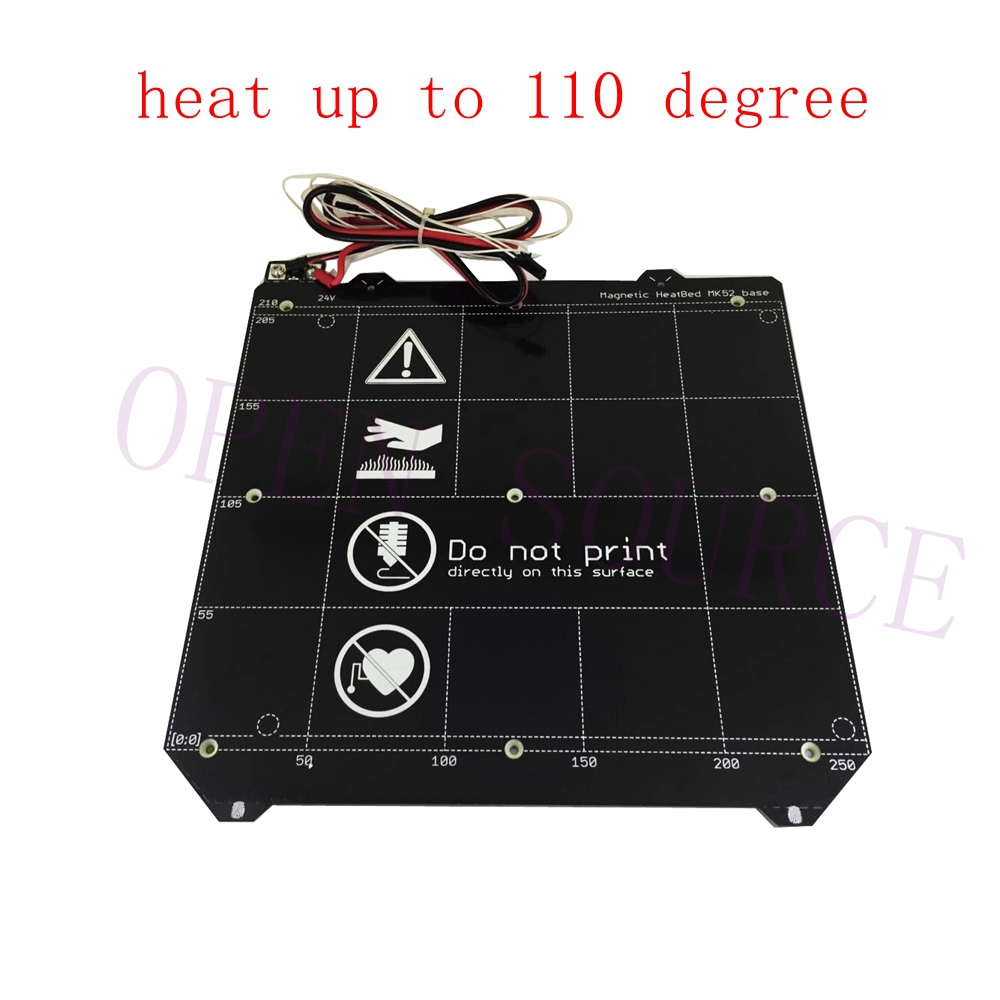 High Quality Clone Y carriage Magnetic PCB Heated Bed MK52 Heatbed 24V W N50H Magnet Cable