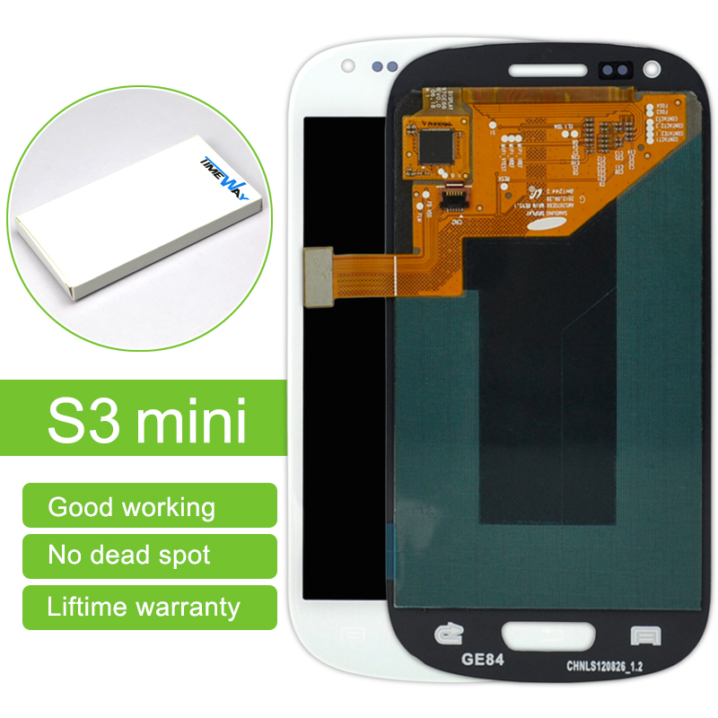DHL 10pcs/lot Best price lcd screen Display digitizer without frame Assembly For Samsung S3 mini i8190 replacment Free shipping