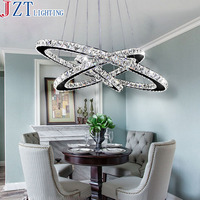 M Siljoy Three Rings 15 7 23 6 31 5 Inches Clear K9 Crystal Chandelier Ceiling