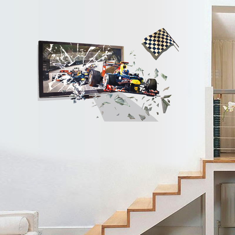Race Racing Car Wall Decor Sticker Decal for Nusery Baby Kids ...