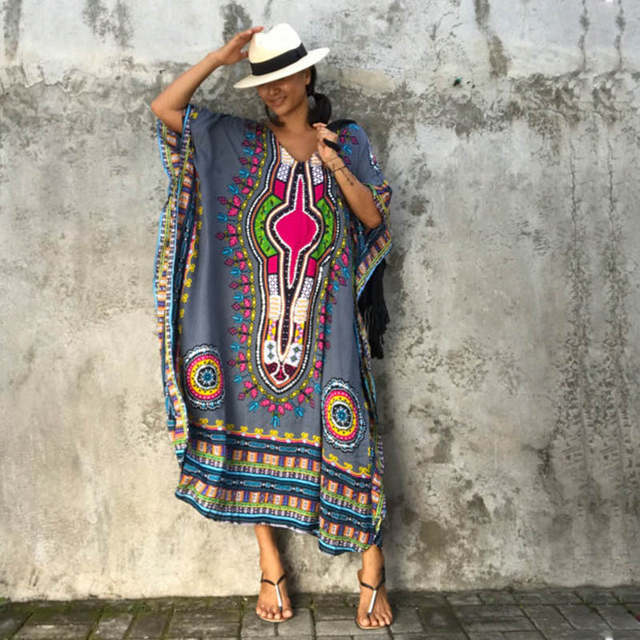 placeholder African Kaftan Black Tunic Dresses for Women s Dashiki Dress  Summer Ethnic Traditional African Clothing Long Maxi aae087b40397