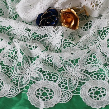 5yard/lot Free Shipping High Quality French Lace Fabric For Sewing 2017 Latest Guipure African Cord Lace Fabric Nigeria Soluble