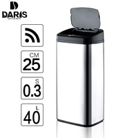 DARIS Trash Can Inductive Type Smart Sensor Automatic Kitchen And Toilet Storage Barrels Rubbish Bin Stainless Steel Waste Bin