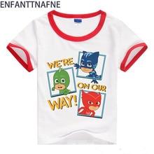 아기 T- 셔츠 여자 티 정상 화이트 만화 T- 셔츠 소년 의류 짧은 소매 코 튼 2M-8T 어린이 여름 O- 넥 소년 티셔츠