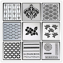flower stencil DIY cards stamp/scarpbooking/crafts Tablecloth Creative stencil /cake coffee model(China)
