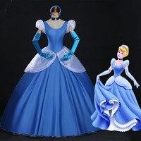 Sensfun Women Ladies Cinderella Princess Costume Adult Cinderella Costume Fairy Tale Cosplay For Women Halloween&chritmas Party