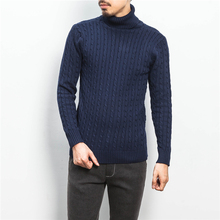 2016 Winter neue herrenmode boutique reine farbe rollkragenpullover/herren hochwertigen große größe freizeit rollkragen pullover