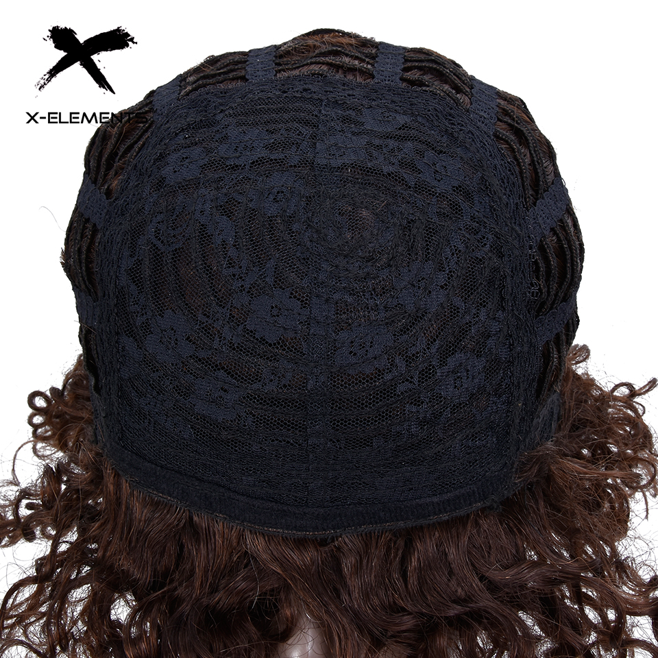 X-Element Brazilian Curly Short Human Hair Wigs with Baby Hair Non-Remy Machine Made Human Hair Wigs For Women H.ORA 6.75 Inches (8)