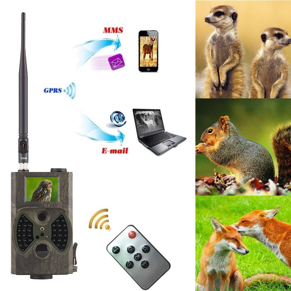 4pcs Hunting Trail Camera HC 300M Full HD 12MP 1080P Video Night Vision MMS GPRS Scouting Infrared Game Hunter Camera hc300m hc 300m hunting game camera mms photo trap hd scouting infrared outdoor hunting trail video camera black ir night vision camera