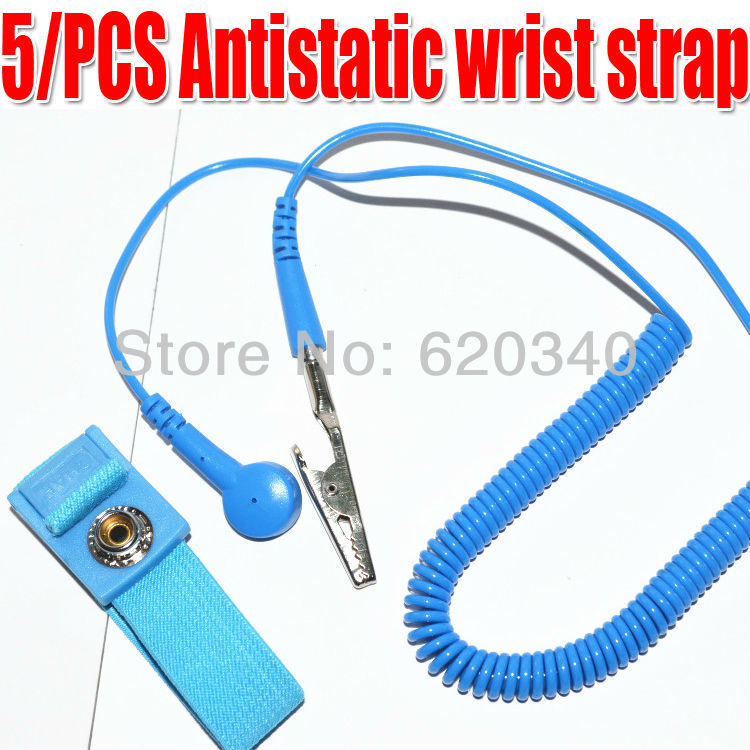 5x Anti Static Antistatic ESD Adjustable Wrist Strap Band Grounding New