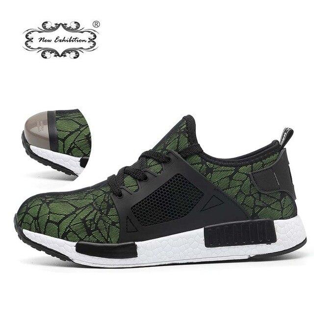 Yeni sergi 2019 Hafif moda Nefes Güvenlik Ayakkabıları Erkek Çelik Ayak anti-smashing sneaker Iş Koruyucu Çizmeler 35- 46