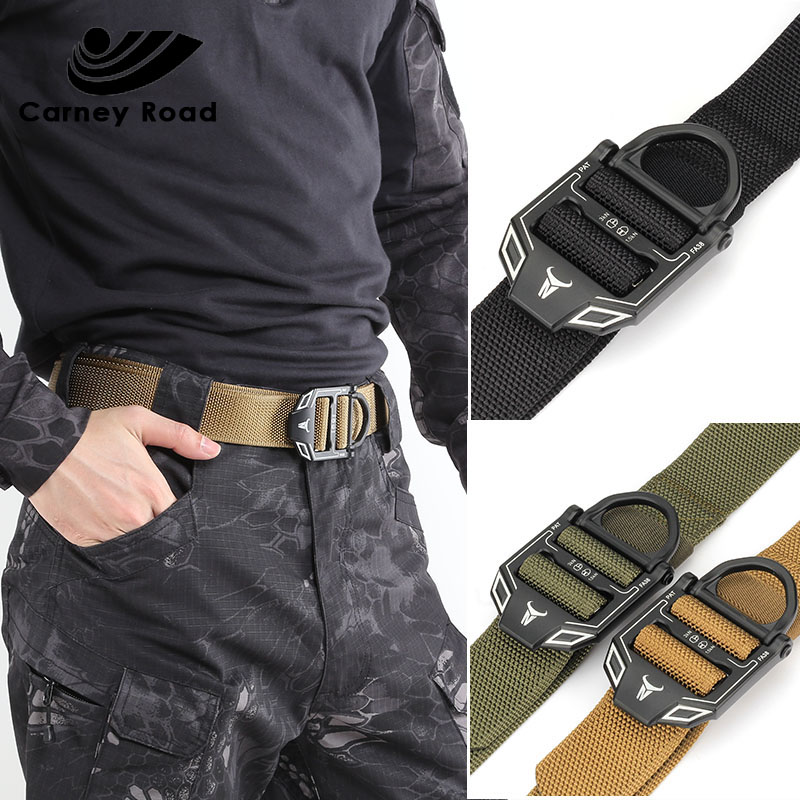 Heavy Duty Waist Belt Tactical Military Nylon Belt Men Army Combat Belt Training Hunting Accessories With Metal Buckle