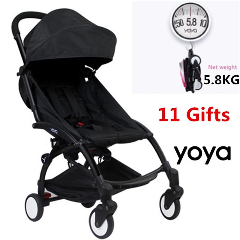11 Accessory Light Aluminium baby Travel yoya Stroller Trolley Wagon Bebek Arabasi Portable Folding yoya stroller Carriage