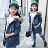 Fashion Autumn Winter Girl Jeans Coat Thicken Casaco Kids Clothes Outerwear Girls Coats Denim Children Clothing