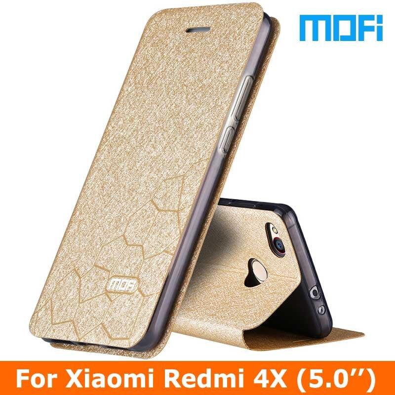 """imágenes para Caso Original de la Marca Mofi xiaomi redmi Xiaomi redmi 4x 4x pro caso Flip cubierta de cuero + TPU caso suave Para xiaomi 4x casos 5.0"""""""