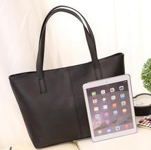High Quality PU Leather Big Shopping Shoulder Bag