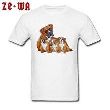 Pug Family Designer Short Sleeve T Shirts Cute Animal Dog Pattern Tshirt Modern Tees For Men New Arrival Mens