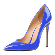 THEMOST 2017 Fashion Pointed Toe Patent Leather Gradient Plus Size 34-52 Women Pumps High Heels Stiletto Shoes Female Party Work