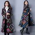 Womens Winter Jackets And Coats Women Jacket Parka Coat Woman Slim Full Single Breasted Long Print China Style Fashion