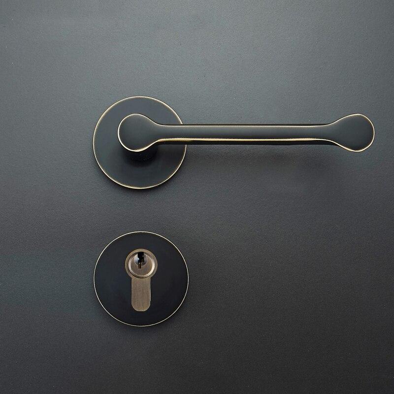 1 set Modernized brass Interior Door Handlesets For 35-50mm Doors Black Simple door Handle with Lock Accessories white ceramics band design mens leisure watch
