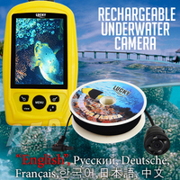 Portable Underwater LUCKY Fishing And Inspection Camera Rechargeable Battery CMD Sensor PAL NTSC 20M Cable