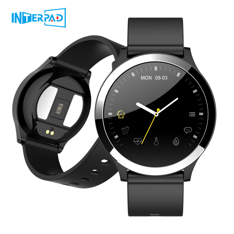 Newest Interpad ECG PPG Blood Pressure Heart Rate Monitor Smart Watch 1 22 Inch IPS Waterproof