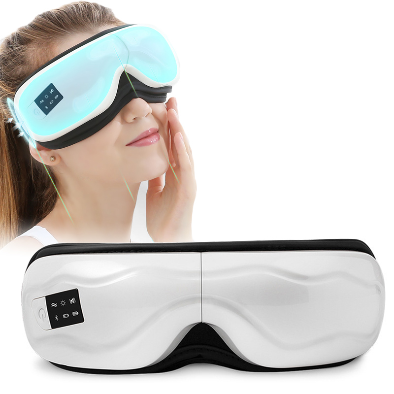 Eye Massager electric Multifunction Vibrating Eye Massage machine with Music Smart Heated massager for eye Goggles Health care