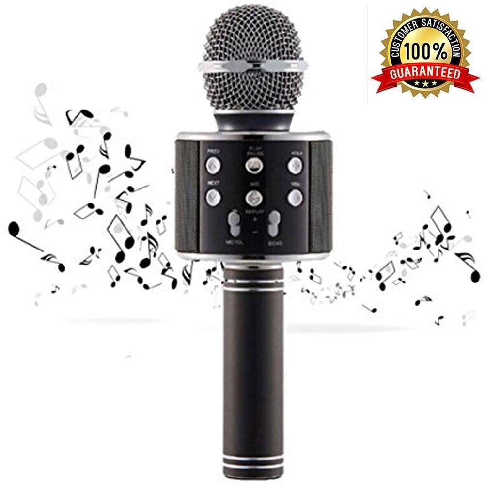Wireless Bluetooth Karaoke WS858 Microphone Speaker Portable Handheld Karaoke Mic Speaker Machine Singing Hosting KTV ws 858