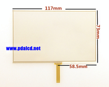 10pcs/lot New 5-inch 117mm*73mm Touch screen panels for 117mmx73mm GPS Navigator touch screen digitizer panel replacement