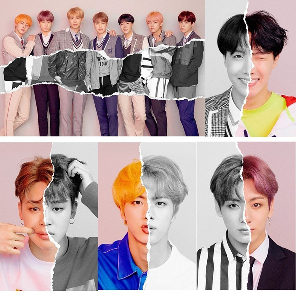 1PC Hot Copperplate BTS Posters Sticker Toys Love Yourself